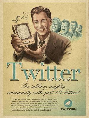 Una campagna retro per Twitter realizzata da Moma Propaganda