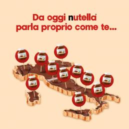Nutella ha lanciato una campagna di social media marketing per presentare i nuovi barattolini che parlano i dialetti d'Italia.