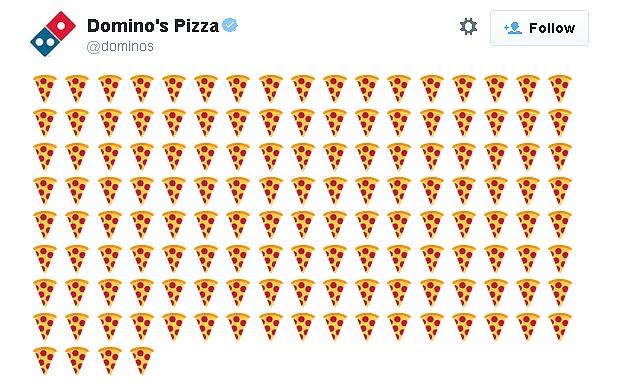 usare gli emoji nel social media marketing: il caso Domino's Pizza