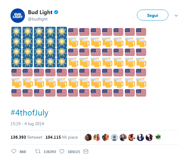 usare gli emoji nel social media marketing: il caso Bud Light