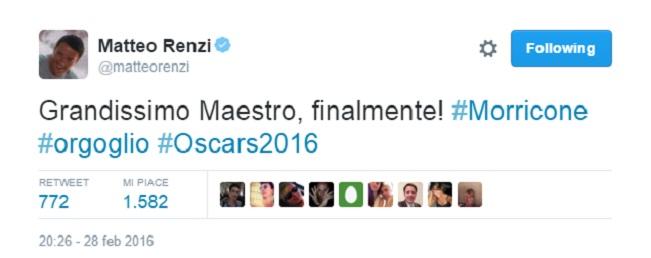 oscar tweet Renzi