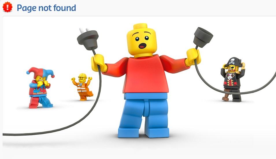 errore 404 lego
