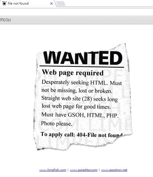 errore 404 limpfish