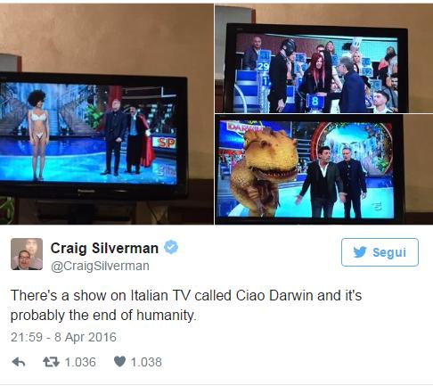 tweet ciao darwin