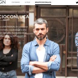 L'eCommerce LOVEThESIGN sceglie l'attore Luca Argentero per una webserie diffusa sui canali social del brand.
