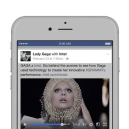 Pubblicazione di un branded content sul profilo Facebook di Lady Gaga