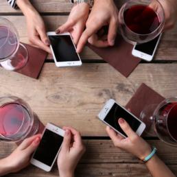 social media e vino