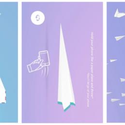 """Paper Planes permette di lanciare aeroplanini di carta in giro per il mondo, ma è anche una metafora del modo in cui """"stiamo"""" sui social."""