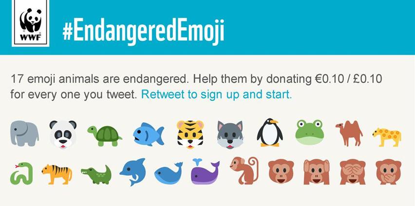 Animali in pericolo wwf emoji
