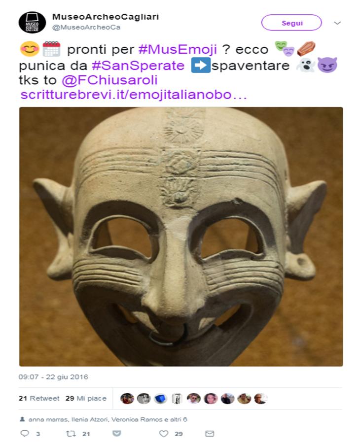 Museo archeologico di cagliari cultura emoji iniziativa