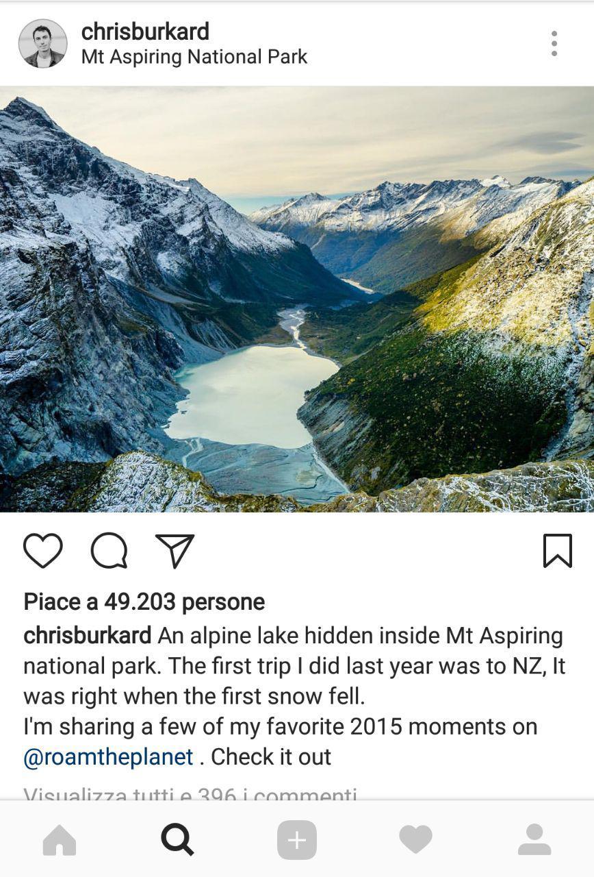 instagram per il turismo Wanaka