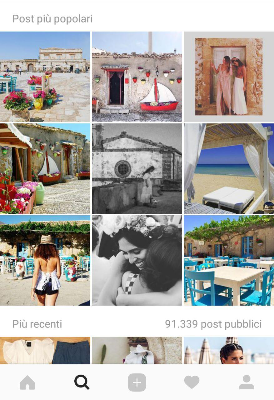 instagram per il turismo marzamemi
