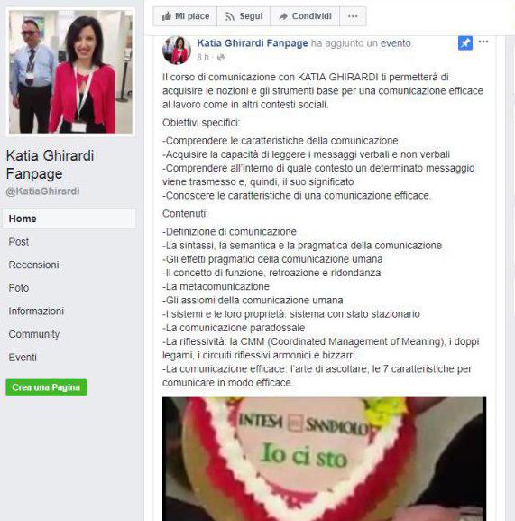 pagina Facebook creata dopo video contest aziendale Banca Intesa Sanpaolo