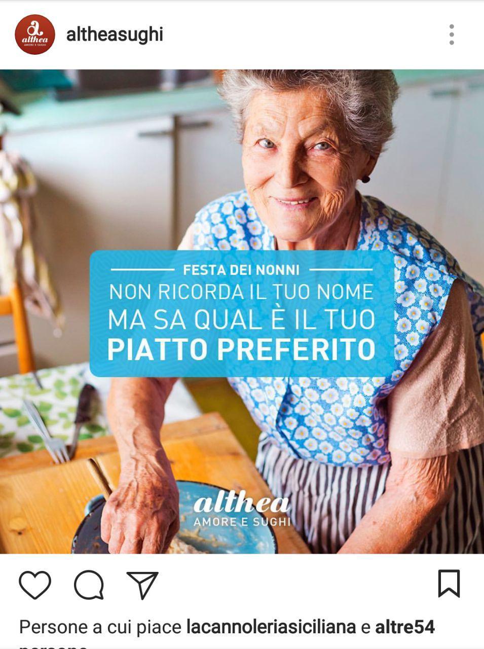real time marketing festa dei nonni althea