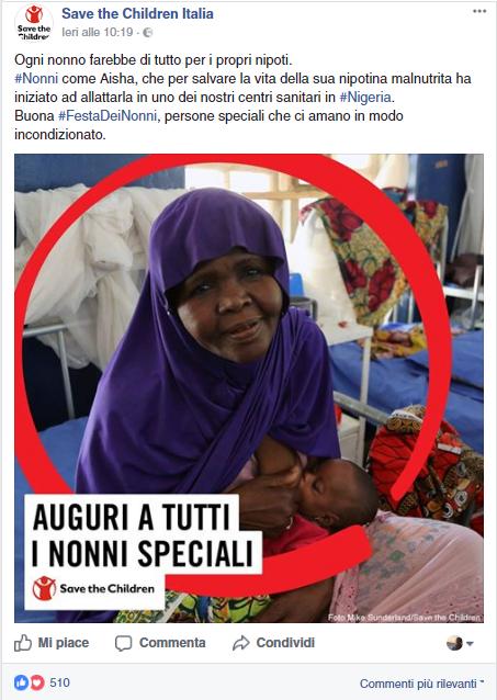 real time marketing festa dei nonni save the children