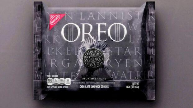 strategie di promozione di Game of Thrones licensing oreo