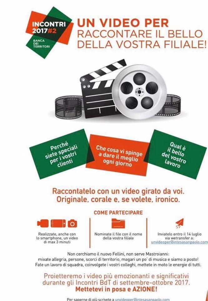 video contest interno Intesa San Paolo