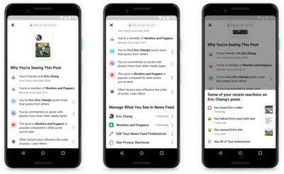 Perché vedo questo post: la nuova feature di Facebook che promette trasparenza e rimette al centro le persone