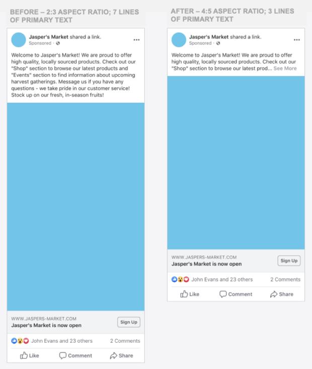 aggiornamenti facebook 2019 nuovo formato annunci pubblicitari