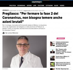 coronavirus virgolettati sui giornali italiani