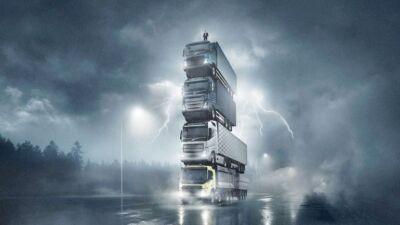 """Lo spot di Volvo Trucks: una torre di camion e altri """"spericolati"""" (e insoliti) esempi di marketing B2B"""