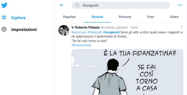 congiunti su twitter