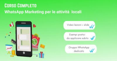 WhatsApp Marketing per attività locali