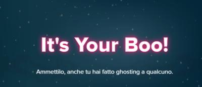 """""""It's Your Boo"""": un'iniziativa per esorcizzare il ghosting su Tinder"""