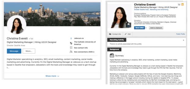 Buon curriculum su LinkedIn