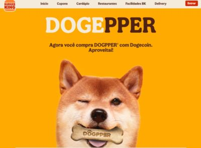 Burger King accetta pagamenti in Dogecoin in Brasile, ma solo per l'acquisto di biscotti per cani