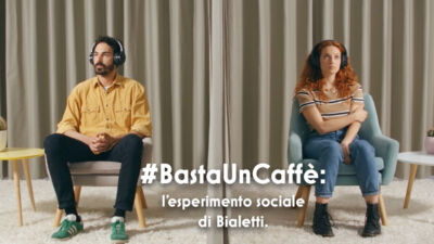 Il messaggio di #BastaUnCaffè di Bialetti passa per una sorta di esperimento sociale raccontato in un video