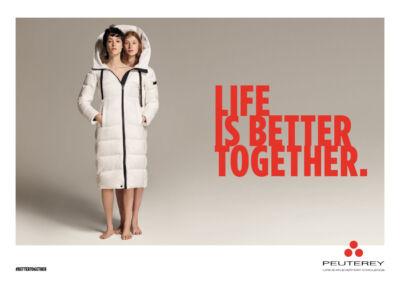 """La campagna di Peuterey """"Life is better together"""" si focalizza sul valore del contatto umano"""