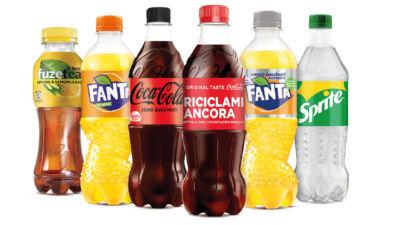 Coca-Cola annuncia le nuove bottiglie realizzate al 100% con plastica riciclata